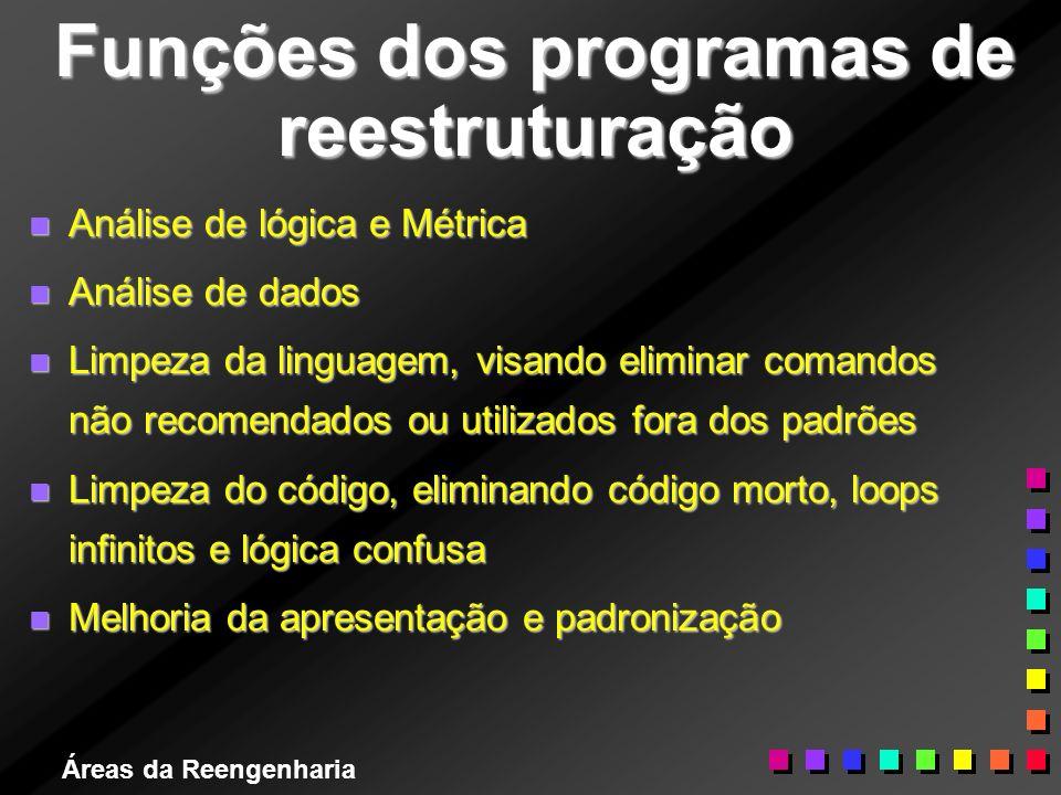 Funções dos programas de reestruturação