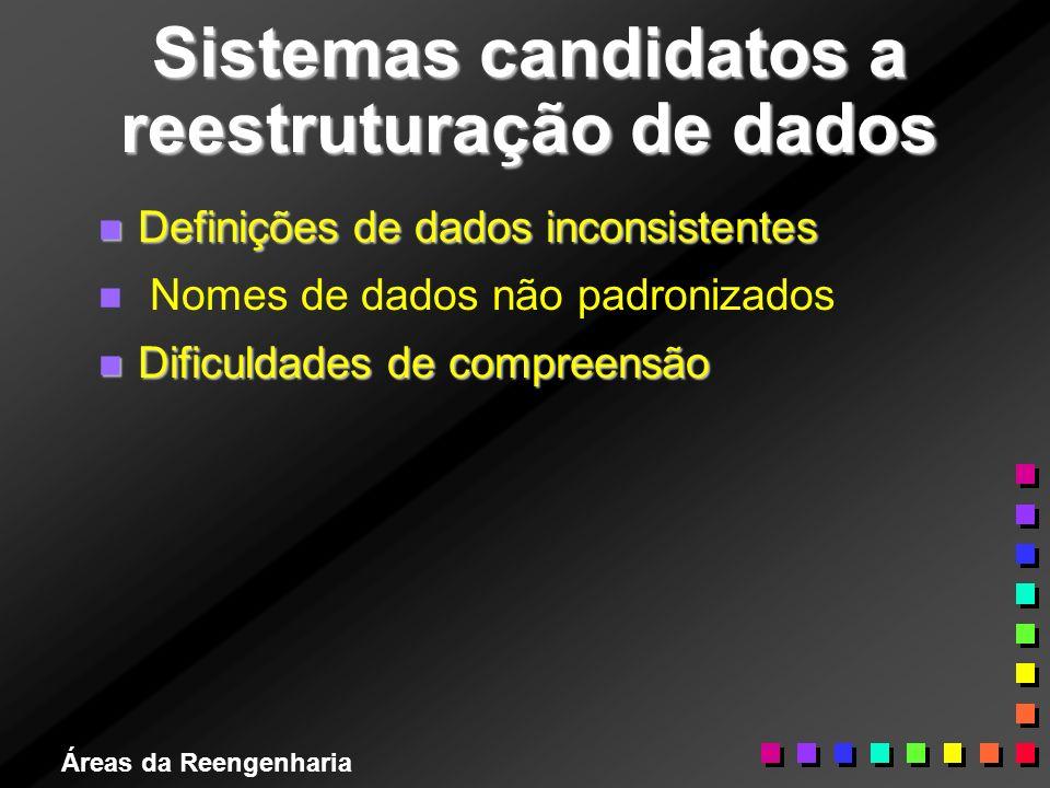 Sistemas candidatos a reestruturação de dados