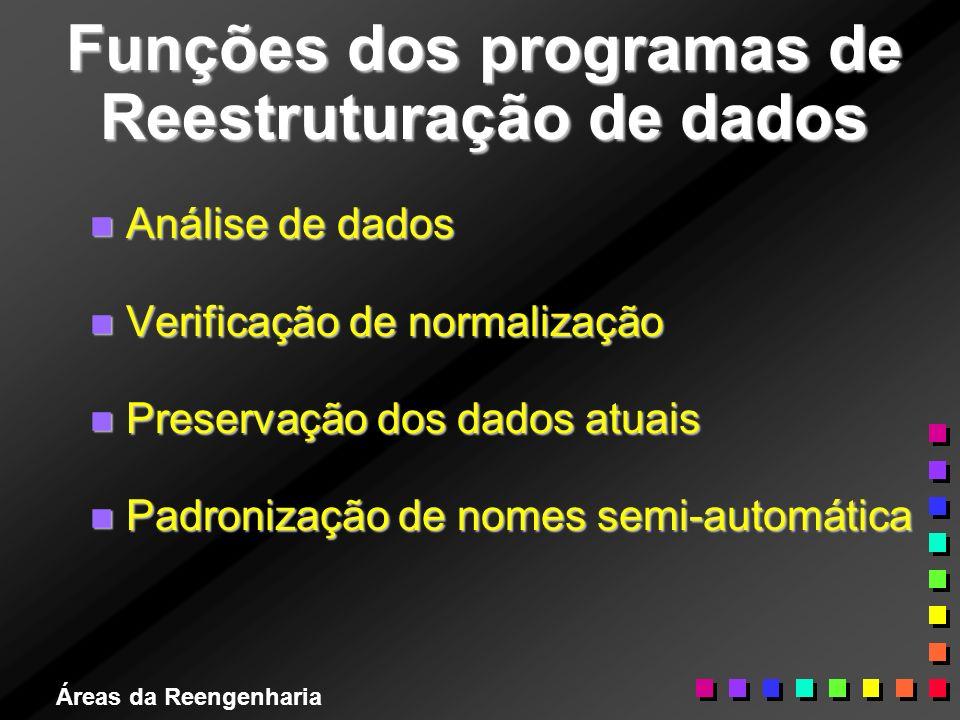 Funções dos programas de Reestruturação de dados