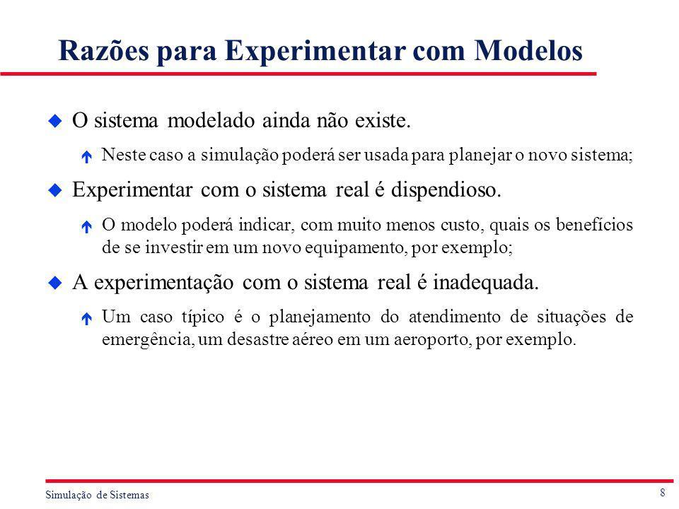 Razões para Experimentar com Modelos