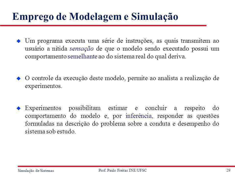 Emprego de Modelagem e Simulação