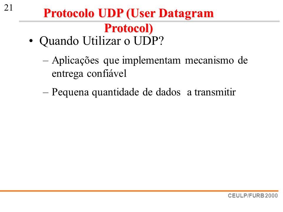 Protocolo UDP (User Datagram Protocol)