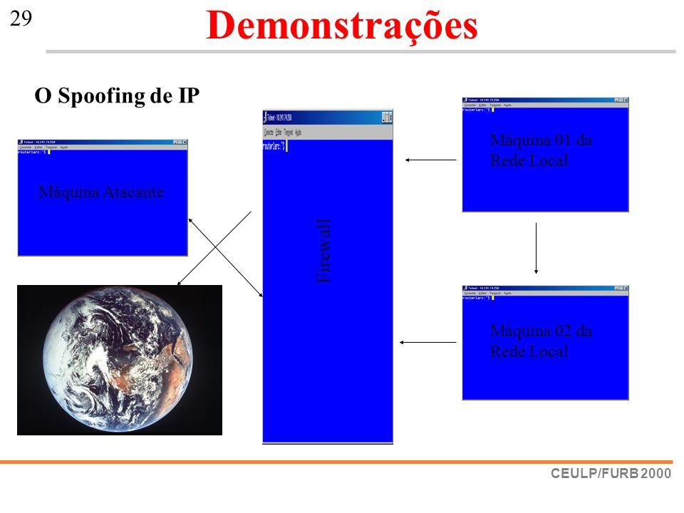 Demonstrações O Spoofing de IP Firewall Máquina 01 da Rede Local