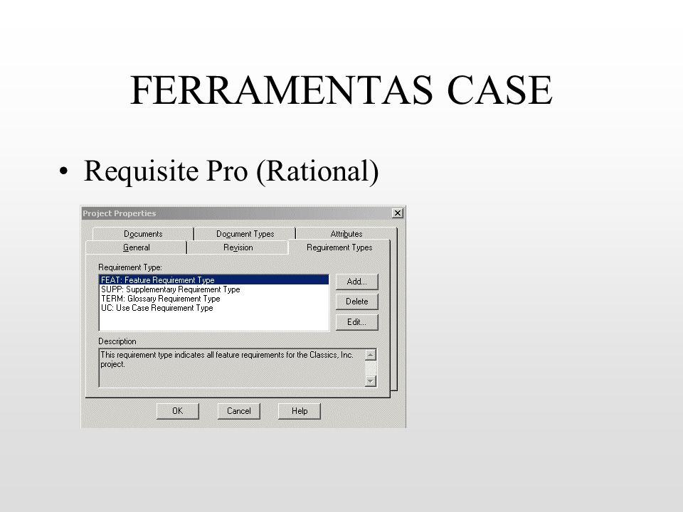 FERRAMENTAS CASE Requisite Pro (Rational)