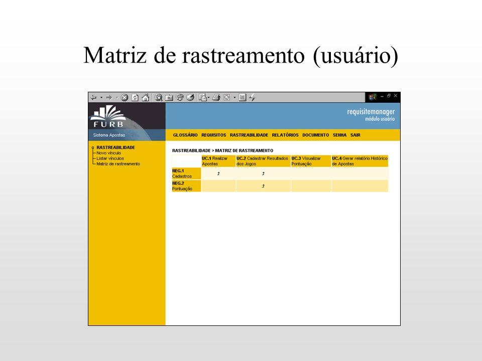 Matriz de rastreamento (usuário)
