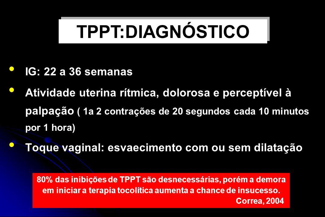 TPPT:DIAGNÓSTICO IG: 22 a 36 semanas
