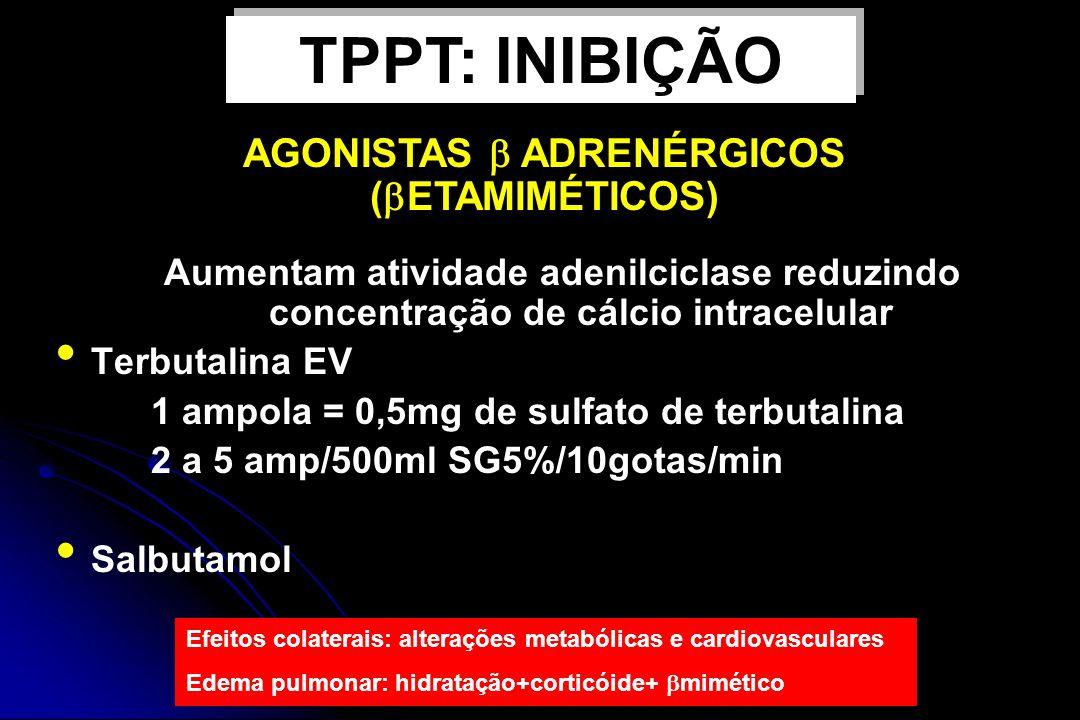 AGONISTAS  ADRENÉRGICOS (ETAMIMÉTICOS)