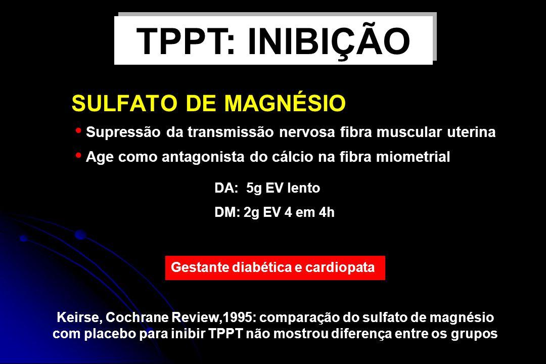 TPPT: INIBIÇÃO SULFATO DE MAGNÉSIO