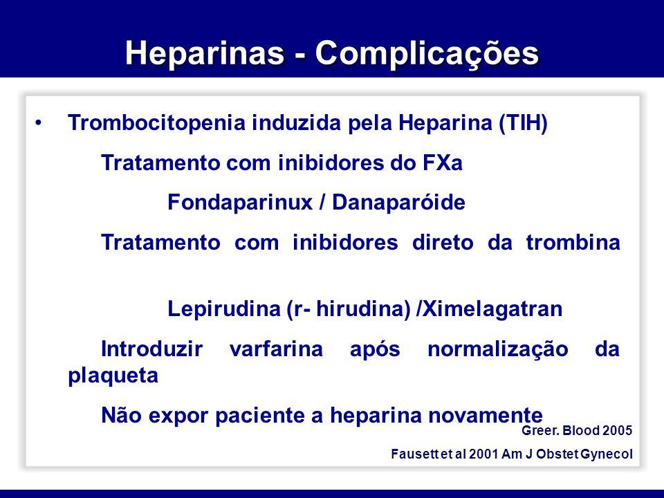 Heparinas - Complicações