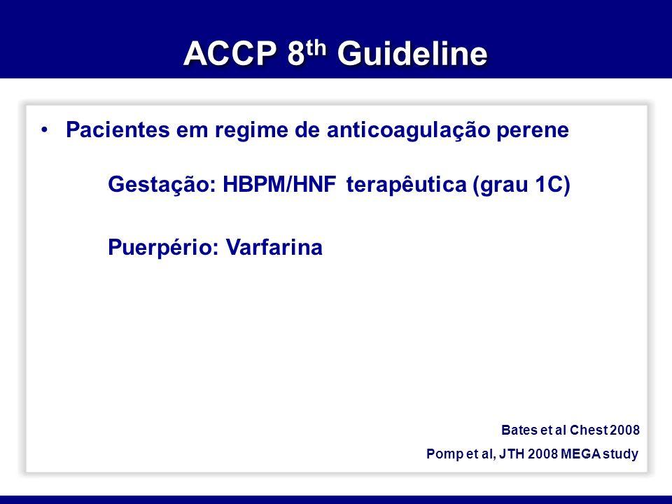 ACCP 8th Guideline Pacientes em regime de anticoagulação perene