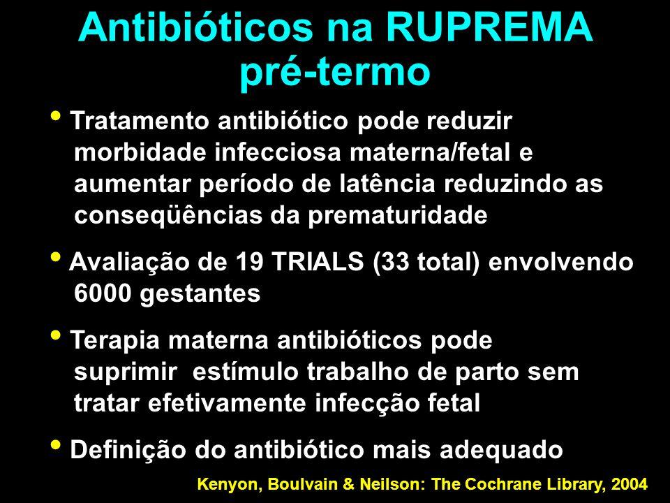 Antibióticos na RUPREMA pré-termo