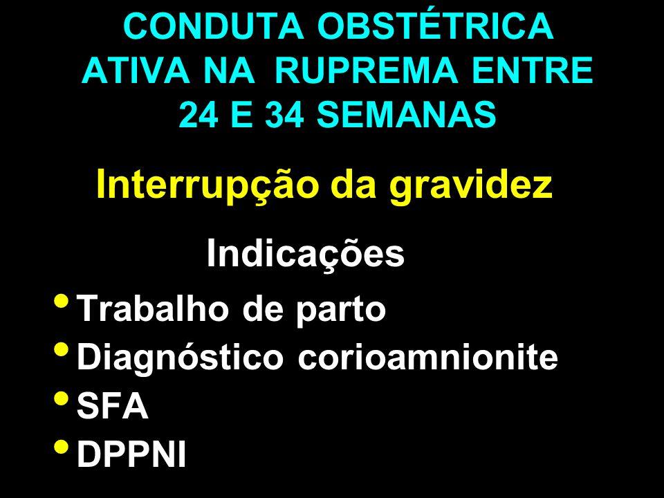 CONDUTA OBSTÉTRICA ATIVA NA RUPREMA ENTRE 24 E 34 SEMANAS
