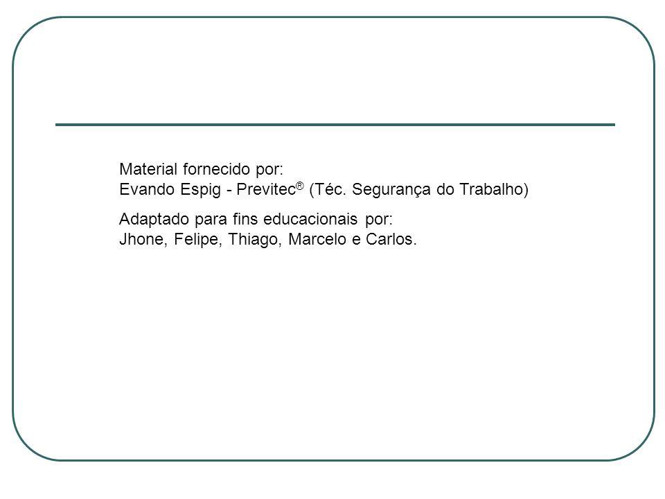 Material fornecido por: Evando Espig - Previtec® (Téc