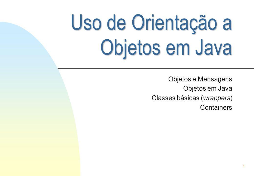 Uso de Orientação a Objetos em Java