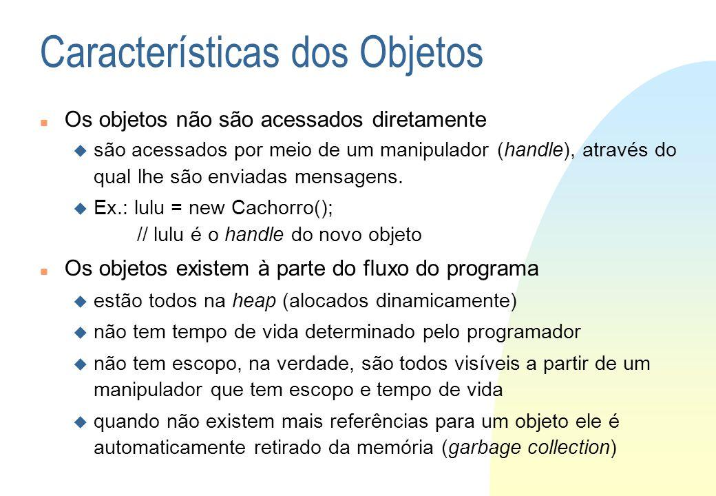 Características dos Objetos