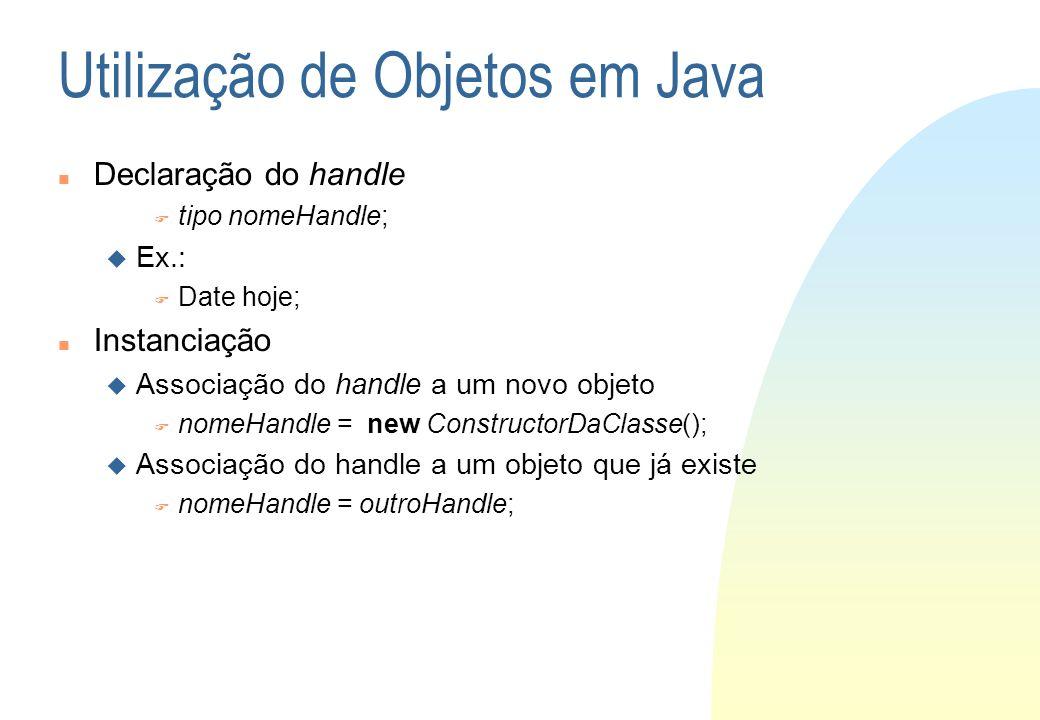 Utilização de Objetos em Java