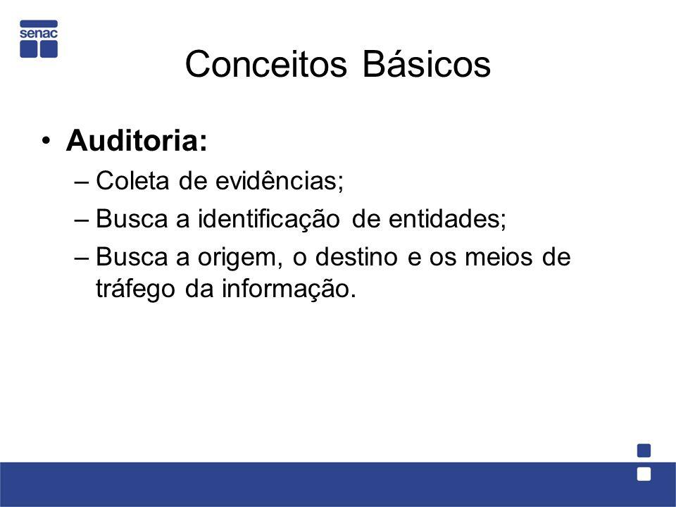 Conceitos Básicos Auditoria: Coleta de evidências;