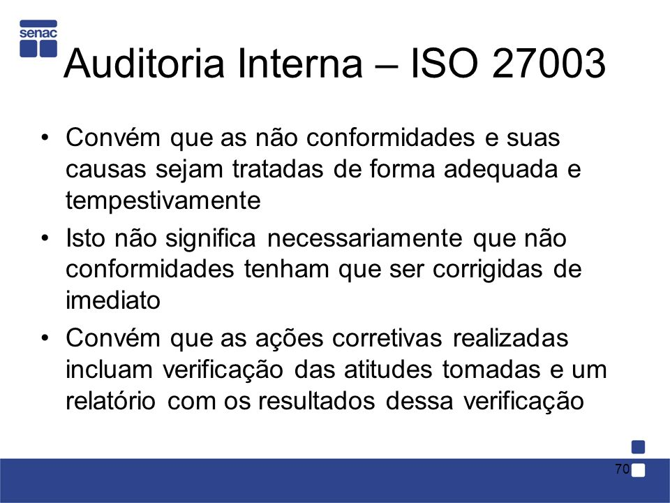 Auditoria Interna – ISO 27003