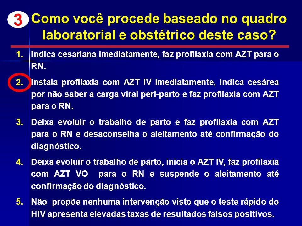 Como você procede baseado no quadro laboratorial e obstétrico deste caso