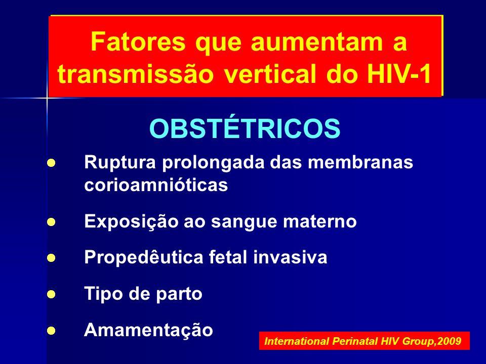 Fatores que aumentam a transmissão vertical do HIV-1