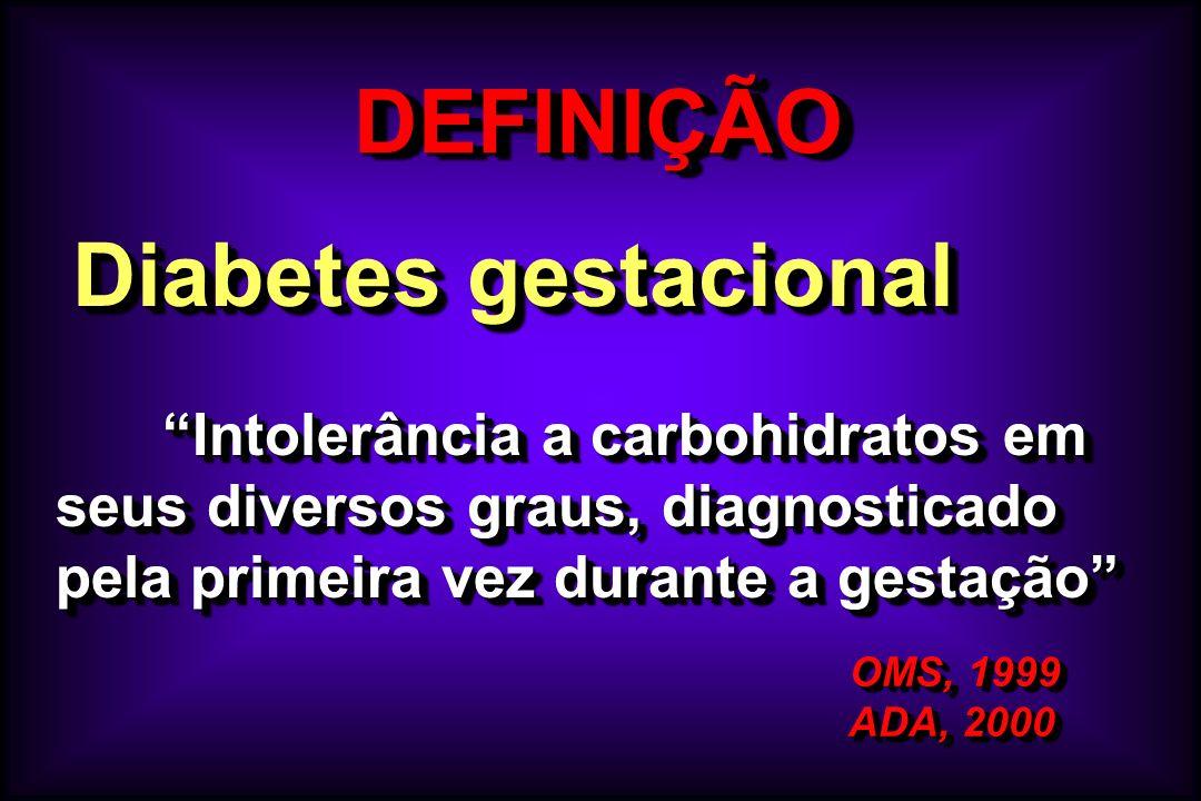 DEFINIÇÃO Diabetes gestacional