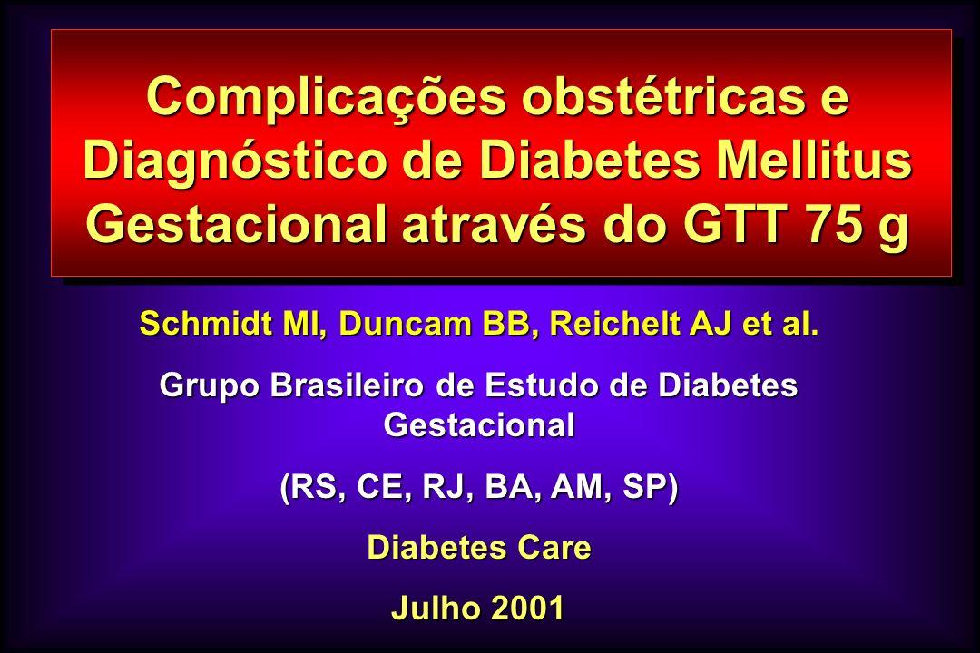 Complicações obstétricas e Diagnóstico de Diabetes Mellitus Gestacional através do GTT 75 g