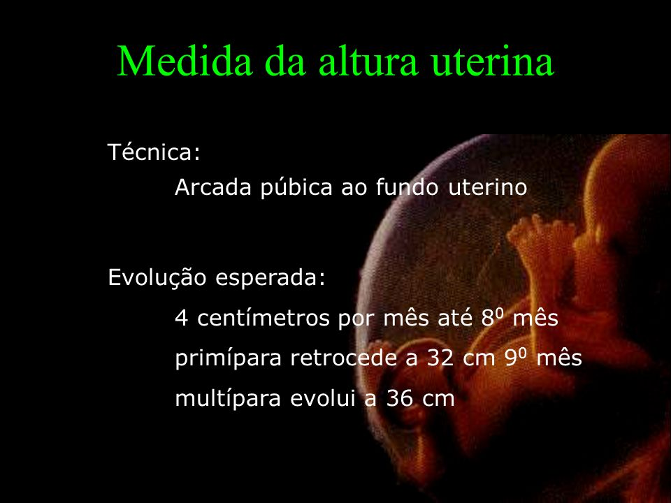 Medida da altura uterina