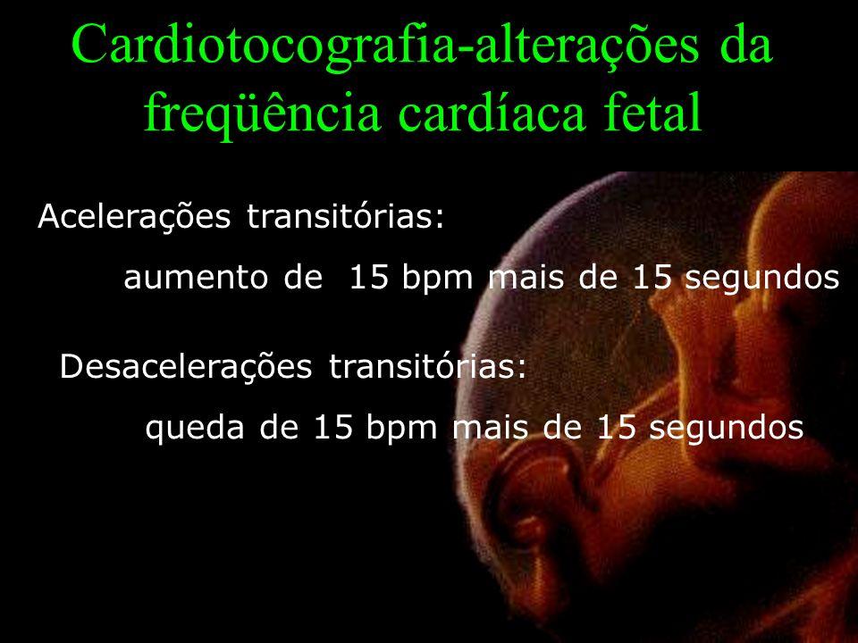 Cardiotocografia-alterações da freqüência cardíaca fetal