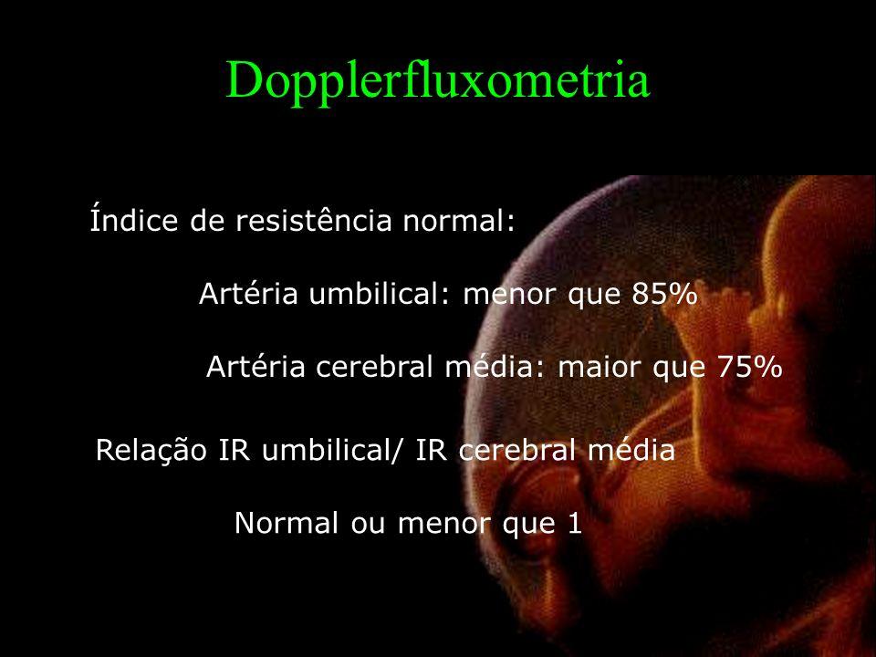Dopplerfluxometria Índice de resistência normal: