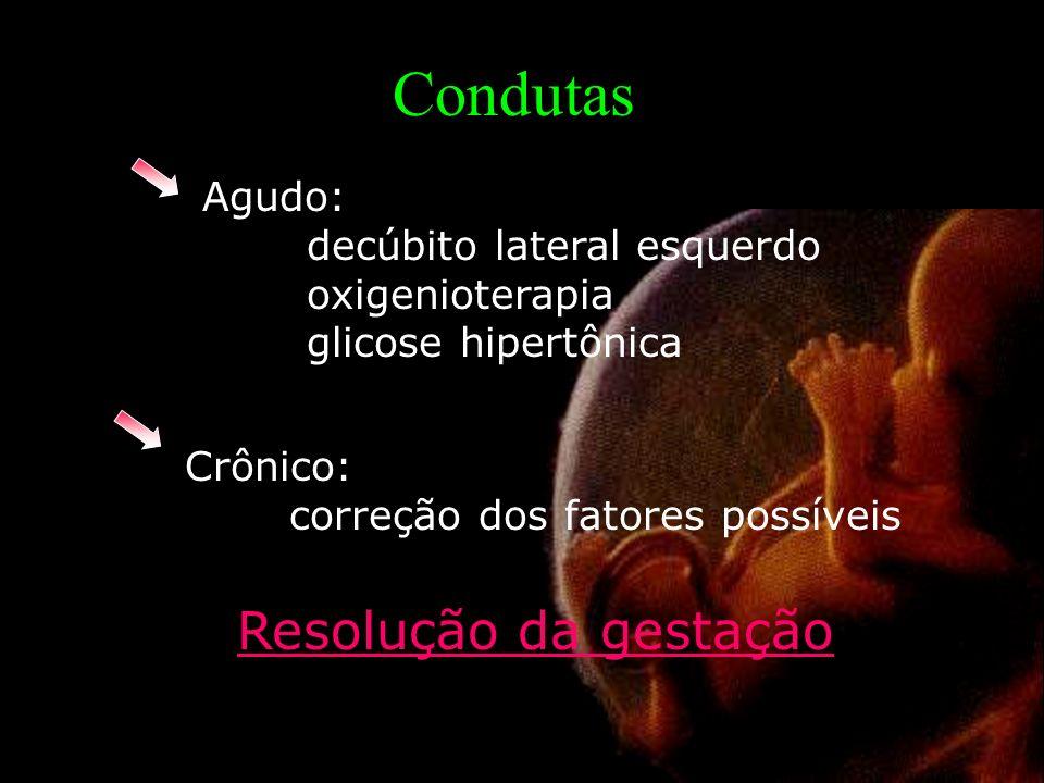 Condutas Resolução da gestação Agudo: decúbito lateral esquerdo