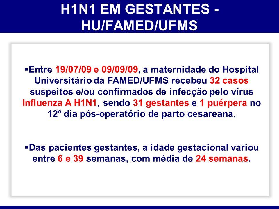 H1N1 EM GESTANTES - HU/FAMED/UFMS