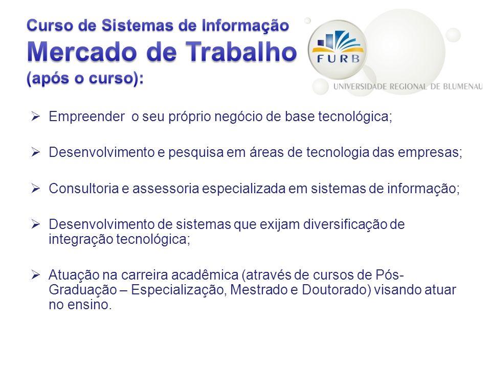 Curso de Sistemas de Informação Mercado de Trabalho (após o curso):