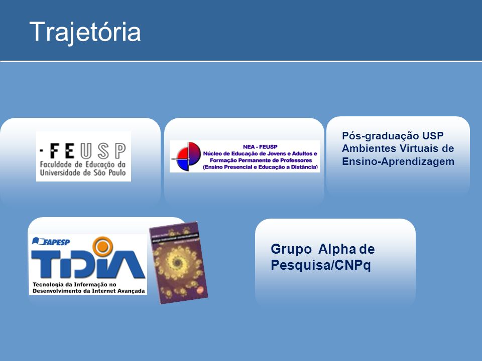 Trajetória Grupo Alpha de Pesquisa/CNPq Pós-graduação USP
