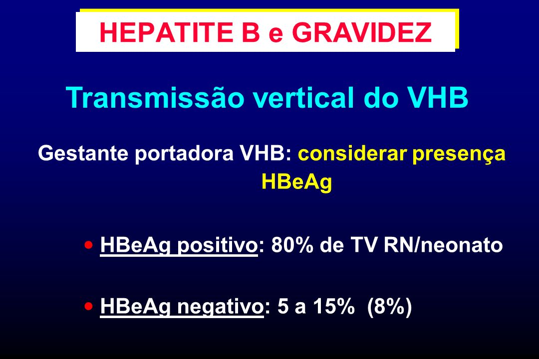 Transmissão vertical do VHB