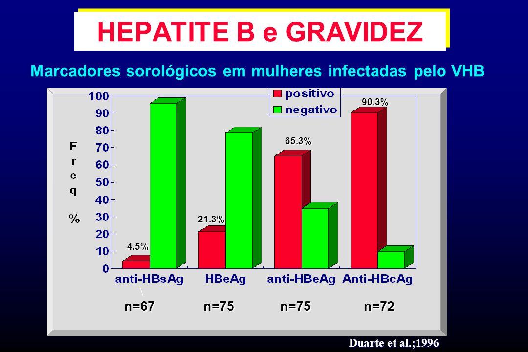 Marcadores sorológicos em mulheres infectadas pelo VHB