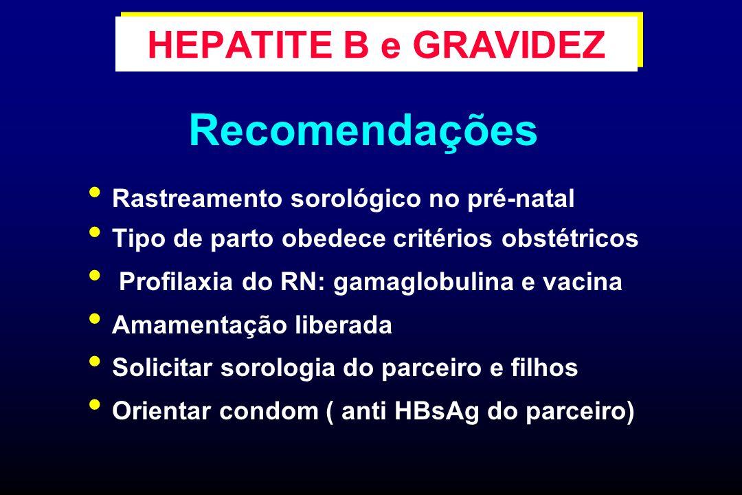 Recomendações HEPATITE B e GRAVIDEZ