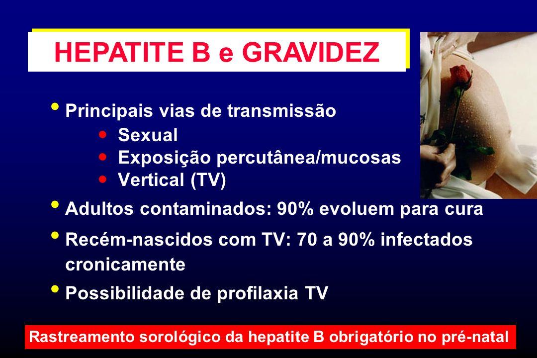 HEPATITE B e GRAVIDEZ Principais vias de transmissão  Sexual