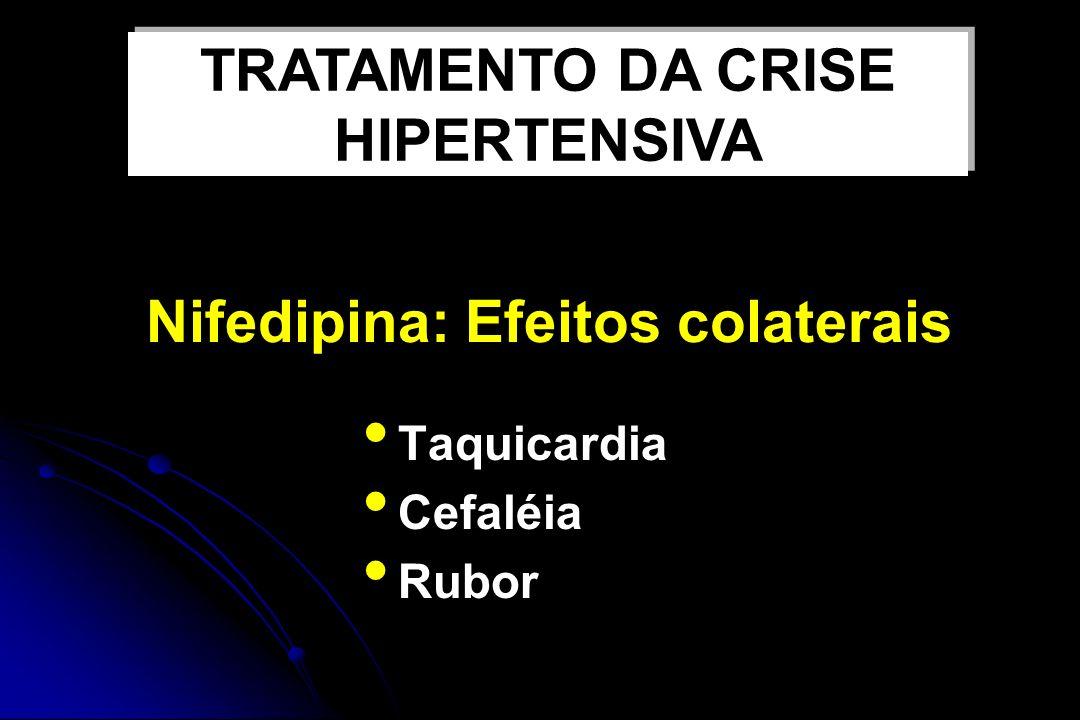 Nifedipina: Efeitos colaterais