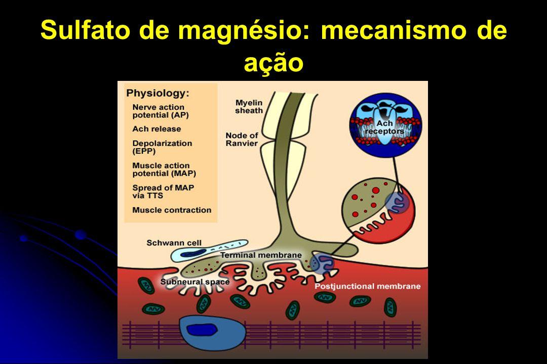 Sulfato de magnésio: mecanismo de ação