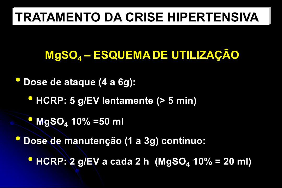 TRATAMENTO DA CRISE HIPERTENSIVA