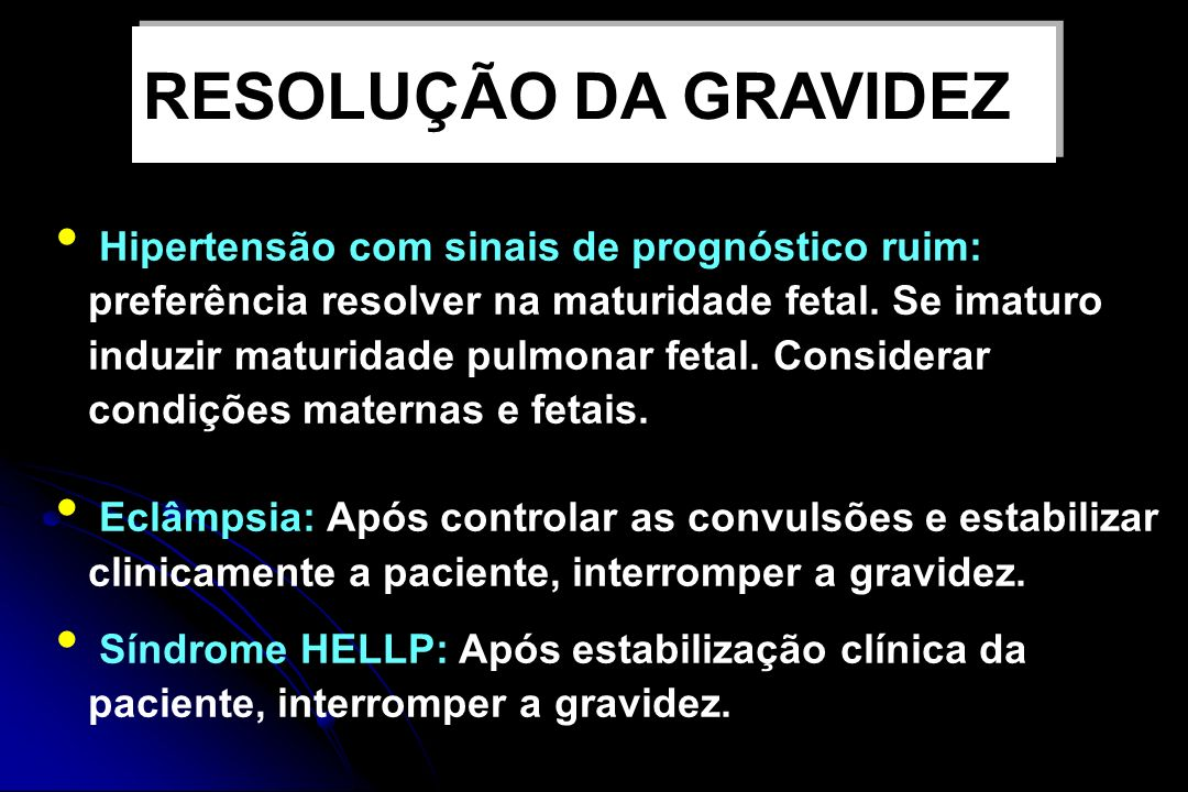 RESOLUÇÃO DA GRAVIDEZ