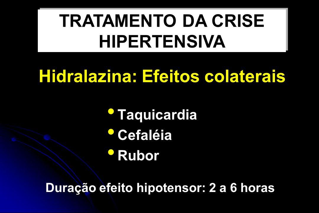 Hidralazina: Efeitos colaterais