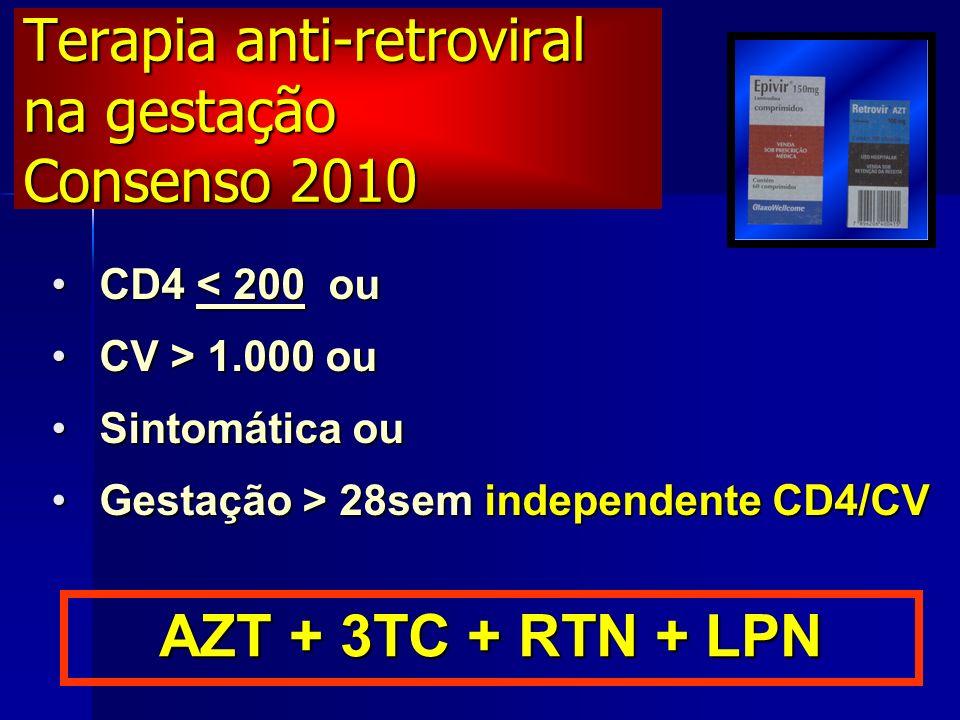 Terapia anti-retroviral na gestação Consenso 2010