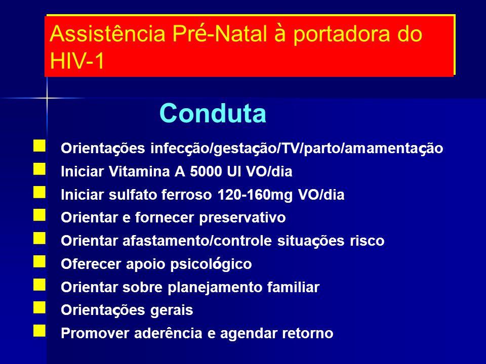 Conduta Assistência Pré-Natal à portadora do HIV-1