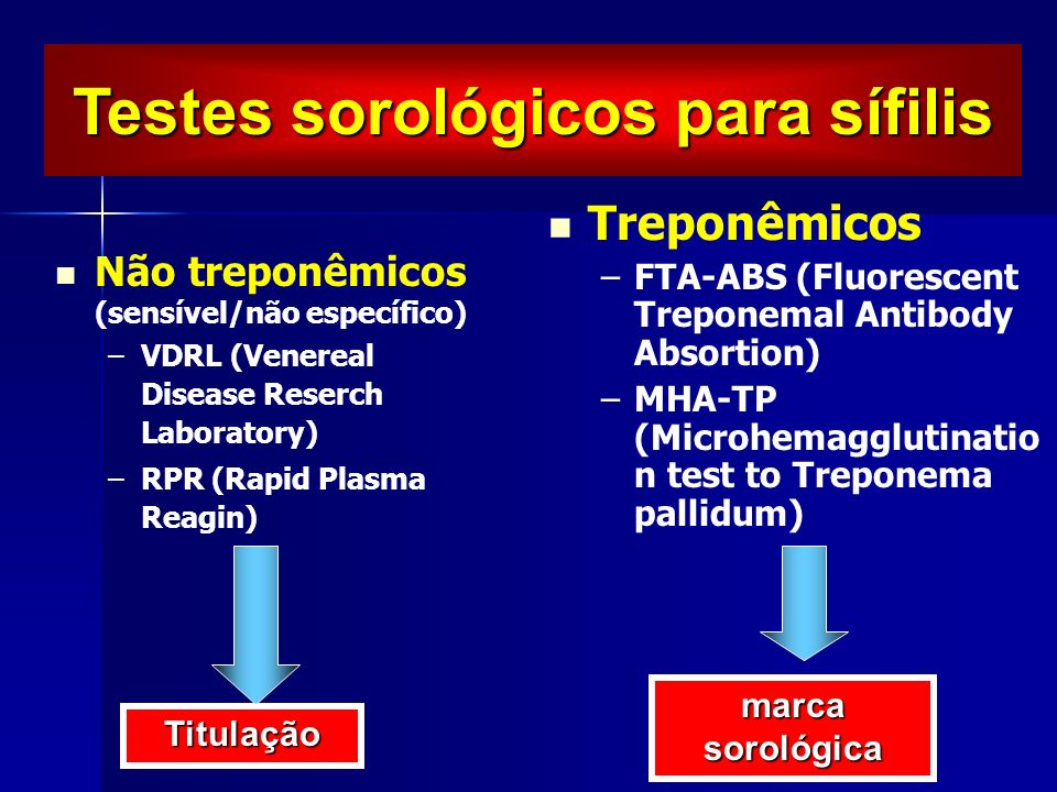 Testes sorológicos para sífilis