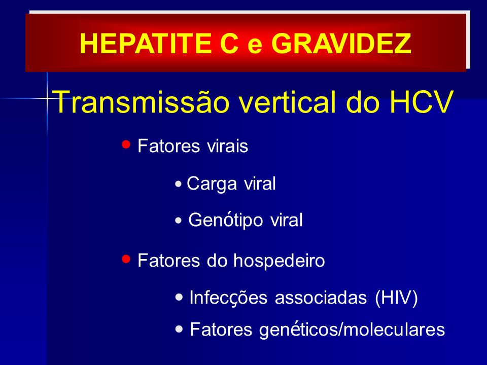 Transmissão vertical do HCV