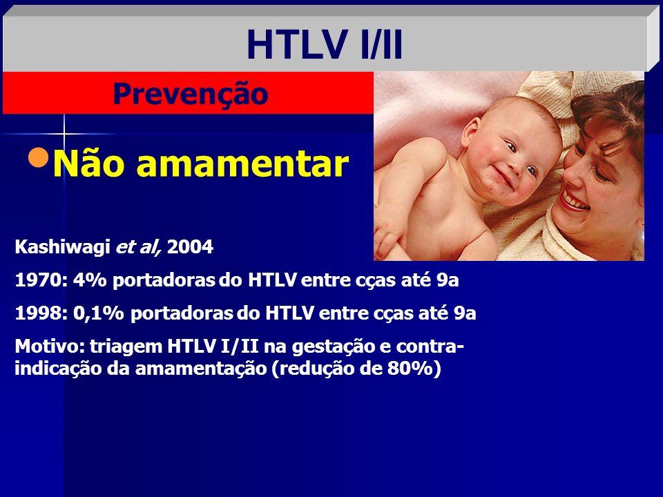 HTLV I/II Não amamentar Prevenção Kashiwagi et al, 2004