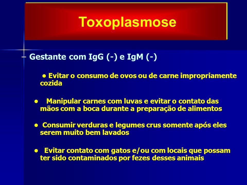 Toxoplasmose Gestante com IgG (-) e IgM (-)