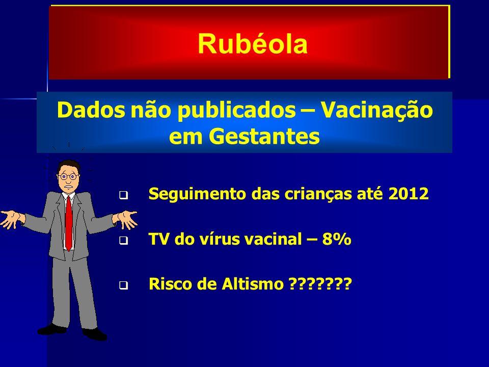 Dados não publicados – Vacinação em Gestantes