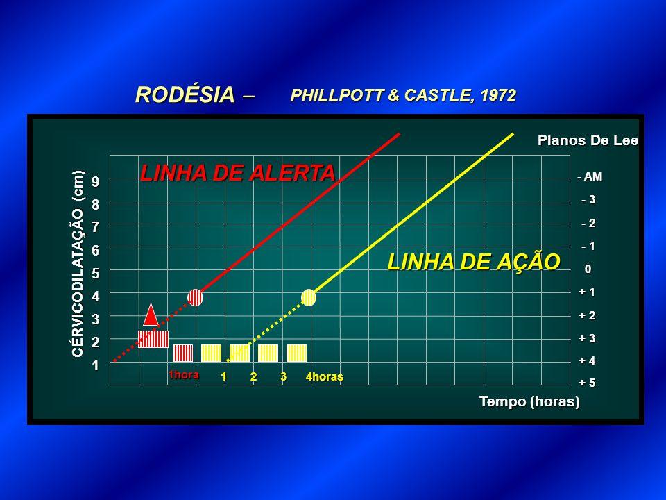 RODÉSIA  LINHA DE ALERTA LINHA DE AÇÃO PHILLPOTT & CASTLE, 1972